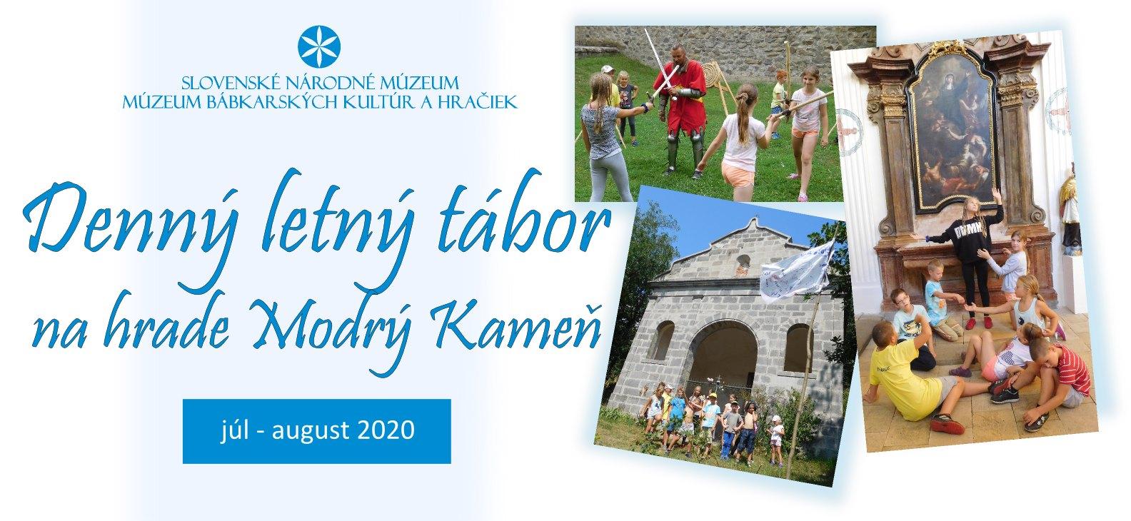 Denný letný tábor na hrade Modrý Kameň 2020